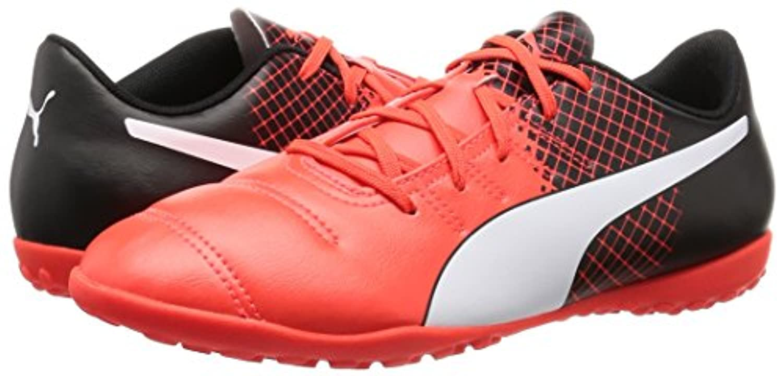 Puma Unisex Kids' EP 4.3 TT Jr F6 Football Training Shoes, Black (Blk/Wht/Red), 4 UK 37 EU