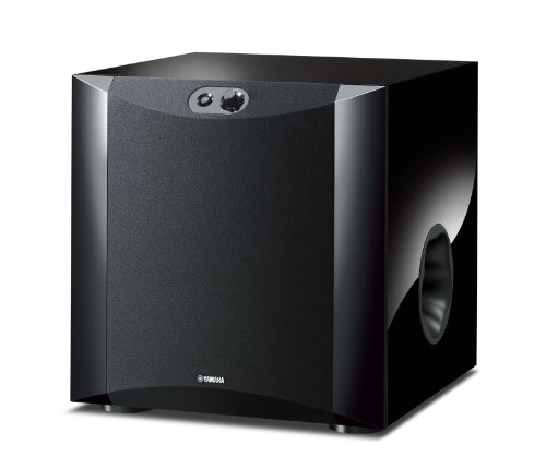 "Yamaha 10"" 250W Powered Subwoofer High-Gloss Piano Black NS-SW300PL"