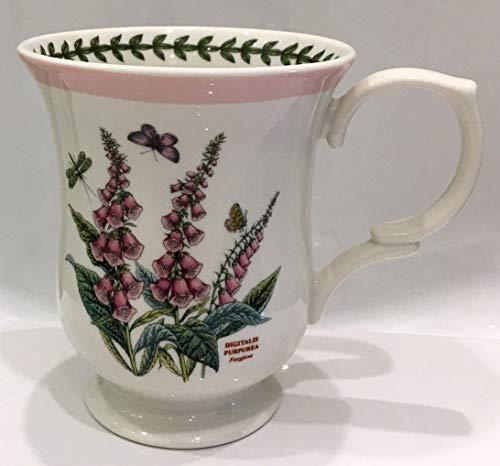 - Portmeirion Botanic Garden Terrace Pink Border Hollyhock Mug Porcelain Fine China