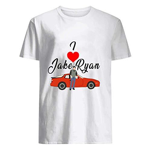 USA 80s TEE I Love Jake Ryan Shirt White ()