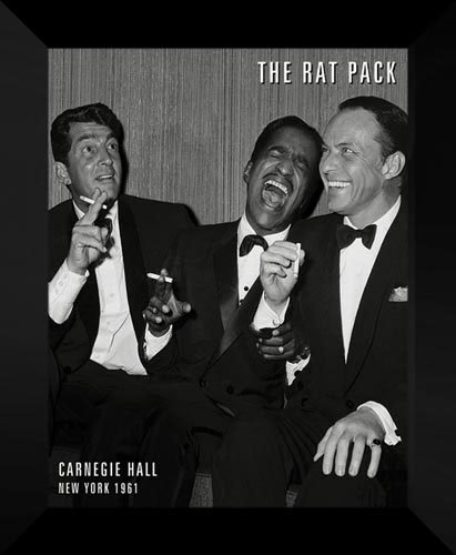 Rat Pack - Carnegie Hall 20x24 Framed Art Print. (Artwork Pack Rat)