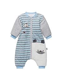 Baby Sleeping Bag 3.5 Tog - Toddler Sleeping Sack Sleeves Detachable Stripy