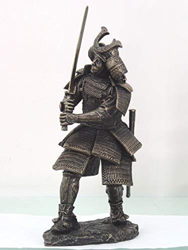 Figurine Large Armored Warlord Shogun Samurai Warrior Statue with Katana Japan ()