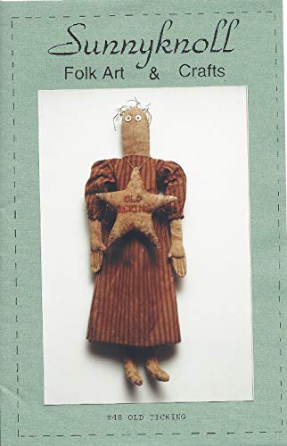 (Old Ticking Primitive Doll Pattern #48 from Sunnyknoll Folk Art & Crafts Finished Size 20