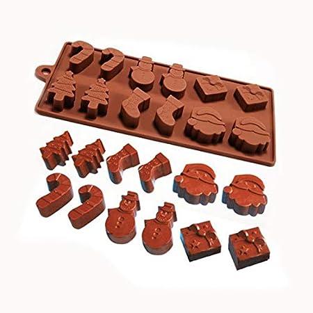 Molde de silicona para tartas y chocolates con diseño de muñeco de ...