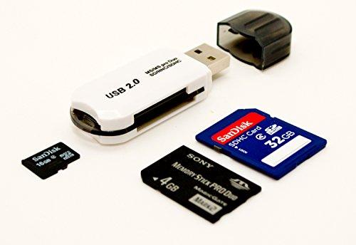 USB 2.0 480 Mbps MicroSDHC SD SDXC UHS-I Memory Card Reader