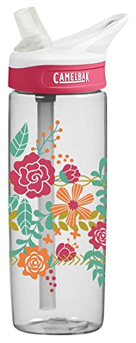 CamelBak Eddy Water Bottle, 0.6 L, Floral Headband