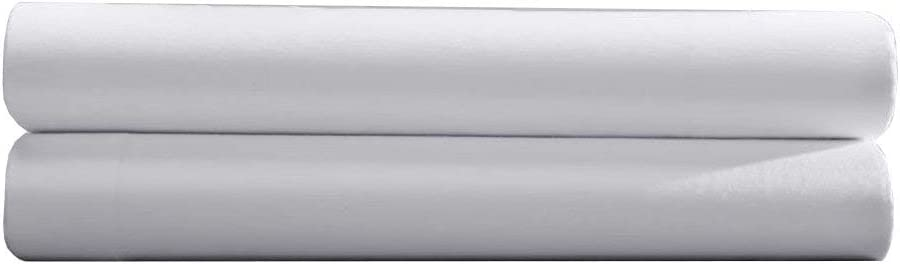 Pacific Linens Solid White, Twin XL Size Flat Bed Sheet (66x104), 1-Piece, 200 Thread Count Poly-Cotton Blend, Luxurious Hotel Quality, Great for College Dorms, Elegant, Breathable, and Durable: Home & Kitchen