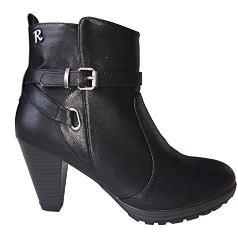 Refresh Mujer Botas Bikerboot Ankle Boot Negro