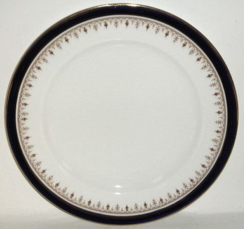 Cobalt Luncheon Plate - Aynsley Leighton Cobalt Smooth Luncheon Plate (Imperfect)