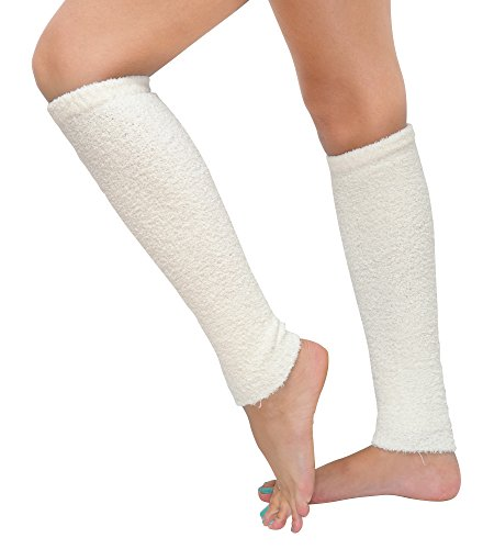 Cream Leg Warmers by Cuddle Obsession 40 Inch Super Long & Luxurious Fuzzy Leg Warmers, Butter Soft, Cozy, Comfy, Fashionable & Warm Casual High Quality Loungewear Fashion -