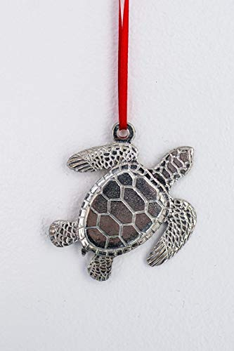 Pewter Turtle - 669 Sea Turtle Ornament Pewter
