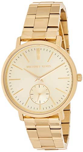 Michael Kors Women's Jaryn Japanese-Quartz Watch with Stainless-Steel-Plated Strap, Gold, 18 (Model: MK3500)