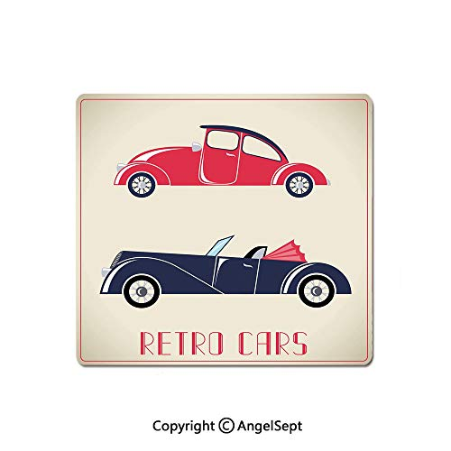 (Best Selling Mouse Pad,Old Fashioned Cars Convertible Urban Vehicles Classical Roadsters,Premium-Textured Mouse Mat,Non-Slip Rubber Base Mousepad for Laptop,Computer & PC,8.26x10.23 Inch,Dark Coral)