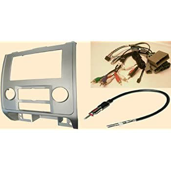 radio stereo install silver dash kit (single and double din) + steering  control wiring