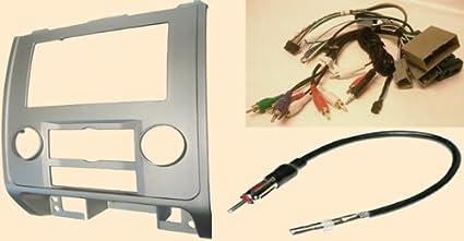 amazon com radio stereo install silver dash kit (single and double Radio Harness Adapter