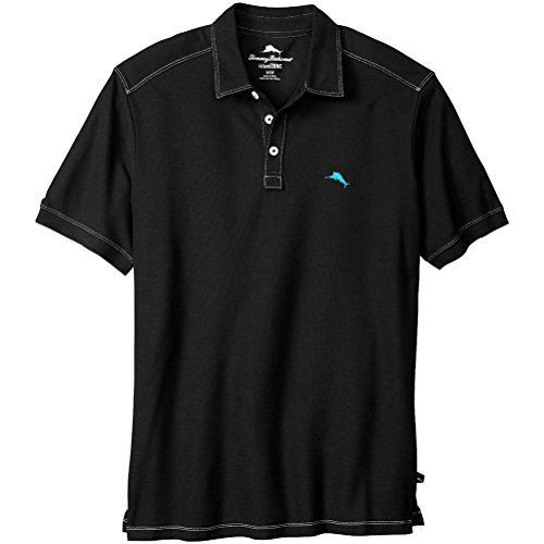 Tommy Bahama Tropical Pique Spectator (Black, M) (Tommy Bahama Polo)