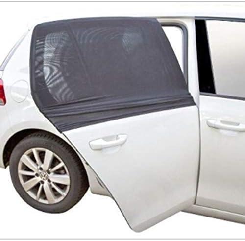 Tivollyff 1組の車の黒のガーゼのサイドカーテンのサイドウィンドウの日よけの夏の日焼け止めの蚊のブラインドの陰のフード