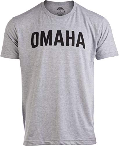 Omaha | Classic Retro City Grey Style Nebraska NE Council Bluffs Midwest Men Women ()