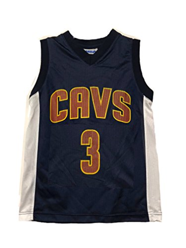 Outerstuff NBA Boys Youth 8-20 Player Name & Number Mesh Player Jersey (Youth Large 14-16, Cleveland Cavaliers Isaiah Thomas Navy) ()