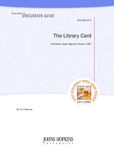 Teachers Discussion Guide To The Library Card Ann Maouyo