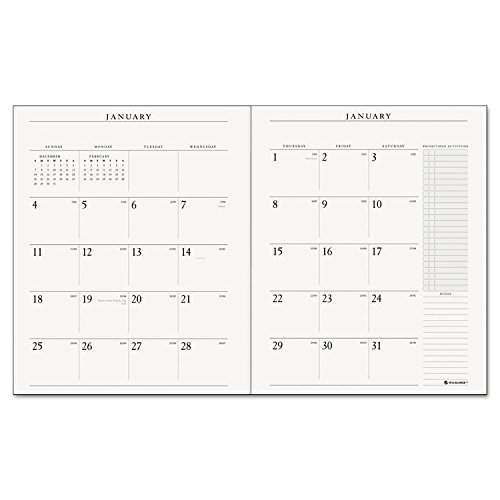 Executive Monthly Planner Padfolio - Executive Monthly Padfolio Refill, 9 x 11, Jan 2019-Jan 2020 (13 Month)