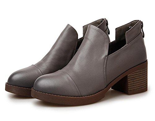 Mme printemps et lautomne Mme chaussures dascenseur chaussures Mme épaisses chaussures à talons hauts rétro simple dames rondes chaussures , US6.5-7 / EU37 / UK4.5-5 / CN37