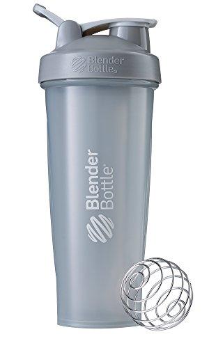 BlenderBottle Classic Loop Top Shaker Bottle, Pebble Grey, 32-Ounce Loop Top