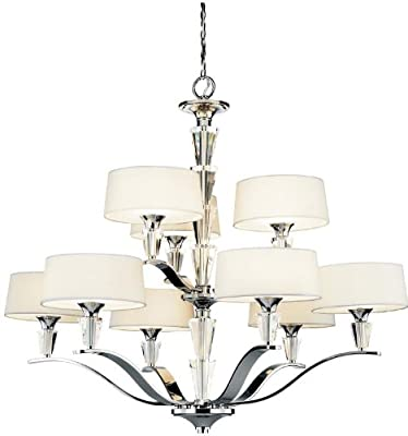 Kichler 42029CH, Crystal Persuasion Mini Crystal Chandelier Lighting, 5 Light, 300w Halogen, Chrome