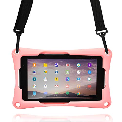 Cooper Trooper 2K Rugged Case for 7'' inch Tablet | Tough Bumper Protective Drop Shock Proof Kids Holder Carrying Cover Bag (Pink) (Tablet Case 7 Inch Free Shipping)