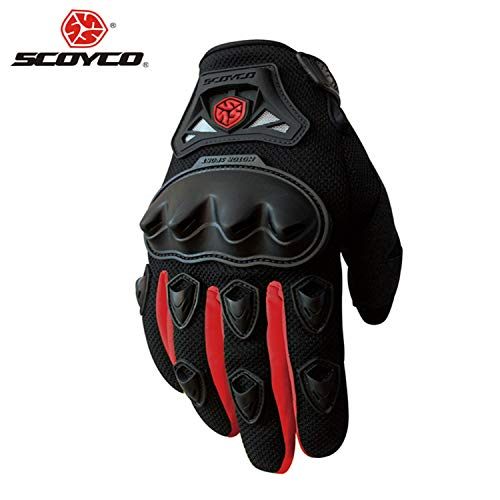 Choson Vic Motorcycle Gloves Professional Motocross Off-Road Racing Full Finger Gloves Moto Riding Gloves Motorbike Protective Gear Ventilation Material Design, Soft and Comfortable (red, XL)