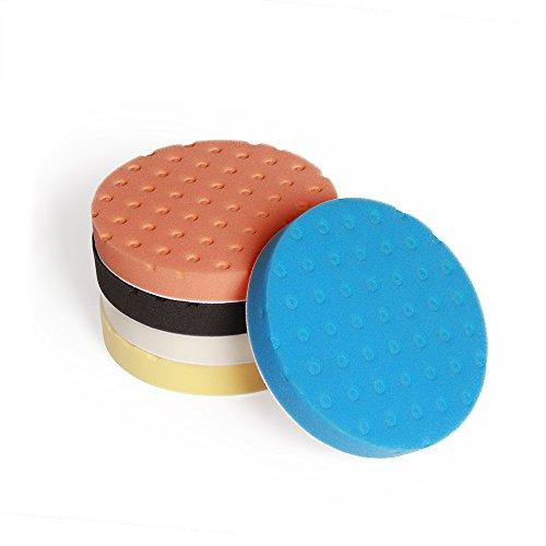 Fontic deals Pad Buffing Foam Sponge Buffing Polishing Pad Kit Set For Car Polisher Sanding Polishing Buffing,Multi-ColorX5 PCS 7Inch by Fontic (Image #4)