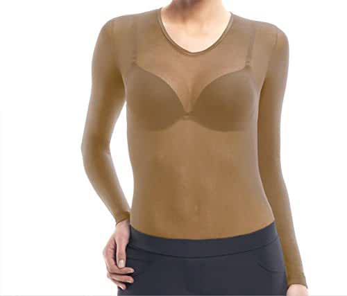 Lupo Women's Second Skin Long Sleeve Sheer Top