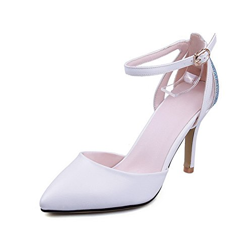 Adee Womens Buckle Western Pointed-Toe Polyurethane Sandals White wHbbHW