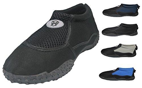 Greg Michaels Herren Wasserschuhe Aqua Socken - hohe Haltbarkeit, angenehm in Wasser und an der Oberfläche zu tragen Schwarz - 3
