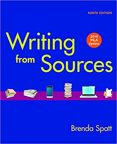 amazon com writing from sources with 2016 mla update ebook brenda