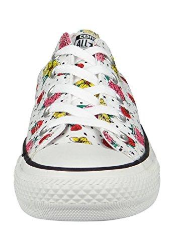 Converse Chuck Taylor All Star Ox, Sneaker Adulto Unisex Bianco / Colorato