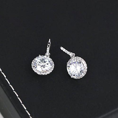 Korea influx people micro circular inlay flash zircon earrings earrings women girls elegant simple and elegant earrings women girls jewelry