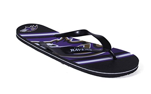 Forever Samle Glade Føtter Menns Og Kvinners Offisielt Lisensiert Stor Logo Flip Flops Baltimore Ravens