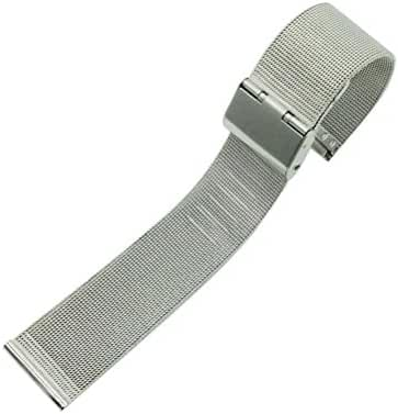 WINOMO Universal 16MM Stainless Steel Watch Mesh Replacement Quick Release Watchband Strap (Silver)