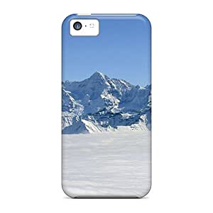 Premium LIB19366oYdC Cases With Scratch-resistant/ Snow Capped Mountains Cases Covers For Iphone 5c