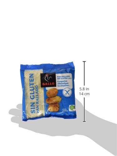 Gallo Pan Rallado sin Gluten - 200 gr - [Pack de 12]: Amazon ...