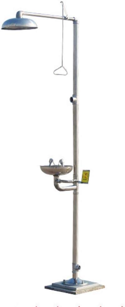JL Estación combinada de Emergencia Estación de Ducha lavaojos Tazón de Acero Inoxidable 304 Ducha de Seguridad Lavaojos Sistema de Ducha de Emergencia,A