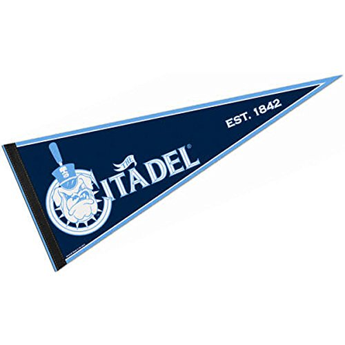 College Flags and Banners Co. Citadel Pennant Full Size Felt -