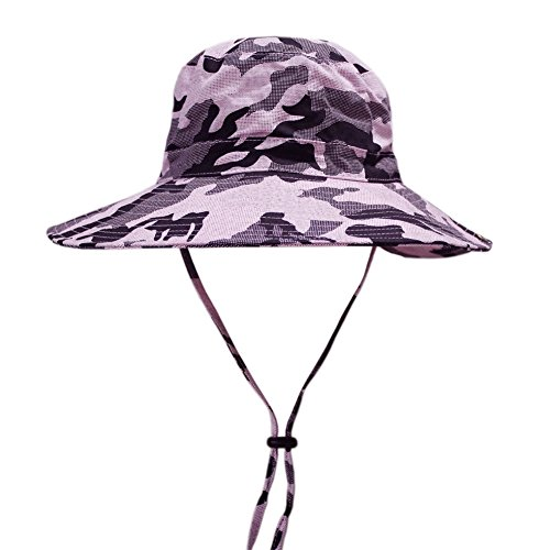Camo Outdoor Military Bucket Hat Hunting Fishing Camping Hiking Sun Cap Pink