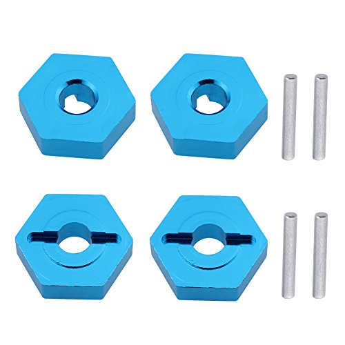 Hobbypark 7mm to 12mm Aluminum Wheel Hex Convert Adapter Hub 1/18 Turn 1/10 For Wltoys A949 A959 A969 A979 K929 RC Car Upgrade Parts (Set of 4)