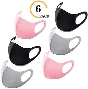 Flex-Fit Face Masks (3 color - 6 Pack)