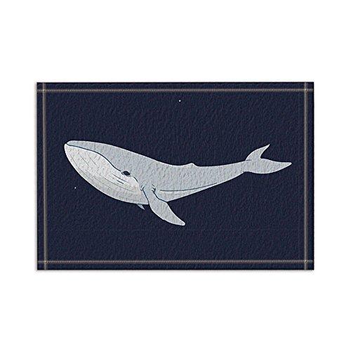 NYMB Ocean Animals Decor, Big Whale in Black Bath Rugs, Non-Slip Floor Entryways Outdoor Indoor Front Door Mat,15.7x23.6in Bath Mat Bathroom Rugs by NYMB
