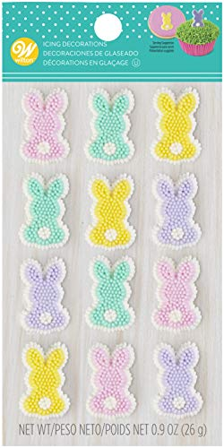 - Wilton Dot Matrix Pastel Bunny Icing Decoration