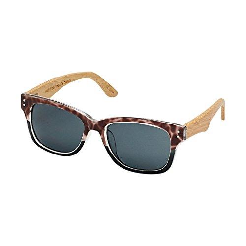 BLUE PLANET MISSOULA BP14108 Grey Tortoise to Black Natural Bamboo Smoke - Planet Blue Eyewear